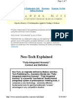 Neo-Tech Explanation