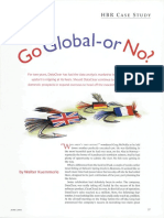 Go Global or Not