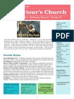 st saviours newsletter - 20 august 2017