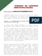 Il PCL Nella Situazione Politica Italiana