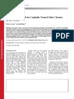 Cephalic Neural Tube