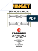 Carraro 28.43m Rear Axle 139548 Repair Manual