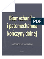 Biomechanika Patomechanika Kd w Odniesieniu Do Wad Postawy