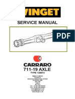 Carraro 711-19 Axle Workshop Manual