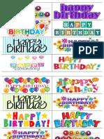 Bookmarks Happy Birthday
