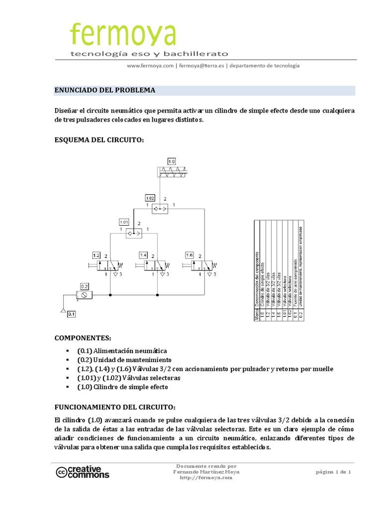 Circuito Neumatico Simple : Circuito r