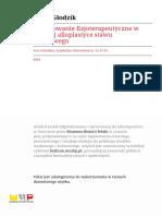 Fizjoterapeutyczne Po Alloplastyce St.biodrowego