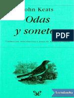 John Keats - Odas y sonetos