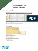 Modular Bookcase Project Diagram