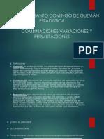 Combinaciones Variaciones y Permutaciones CURSO de ESTADÍSTICA