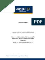 Tema 2 O SISTEMA ESCOLAR E A AVALIAÇÃO.pdf