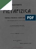 Radulescu-Motru - Elemente de Metafizica 1912