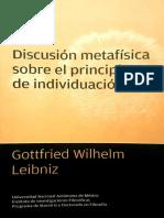 Discusión Metatísica Sobre El Principio de Indicviduación