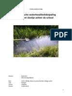 Verslag Waterkwaliteitsbepaling Biologie (1)