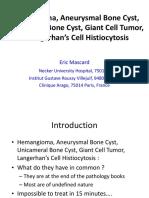Hemangioma, Aneurysmal Bone Cyst