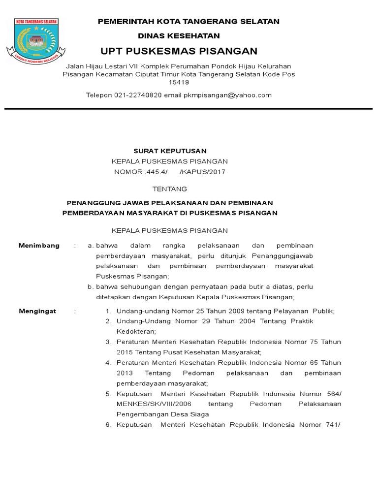 Kode Pos Kota Tangerang Selatan Ciputat Timur