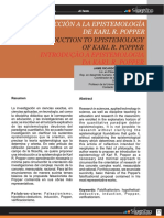 Reyes- Introducción a la Epistemología de Karl R. Popper