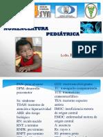 nomeclatura de fisioterapia infantil