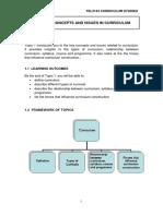 Curriculum Studies Module