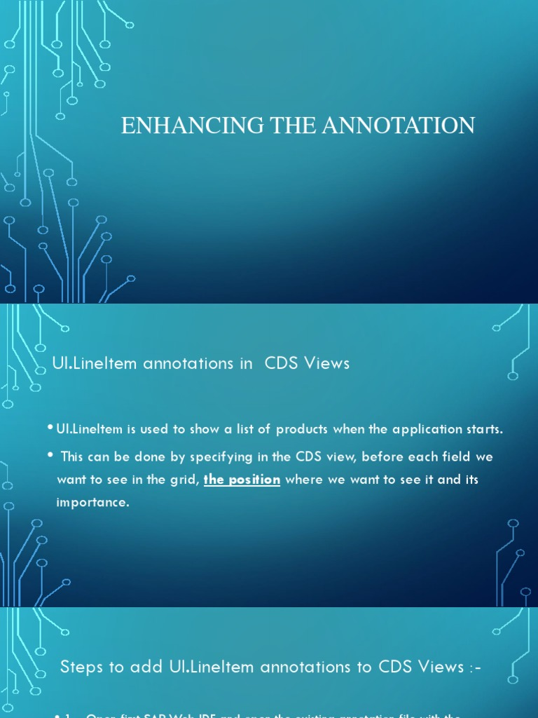 Enhancing the Annotation | Areas Of Computer Science