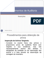 Procedimentos de Auditoria