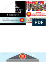 ASEAN Community-building and the Role of Social Scientists