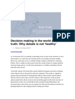 Decision Making in the World of Post-truth