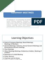 Class 5 Company Meetings