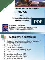 13. Manajemen Pelaksanaan Proyek