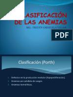 CLASIFICACIÓN ANEMIAS