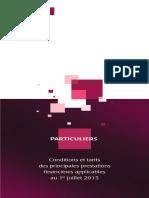 Tarifs Particuliers Juillet 2015