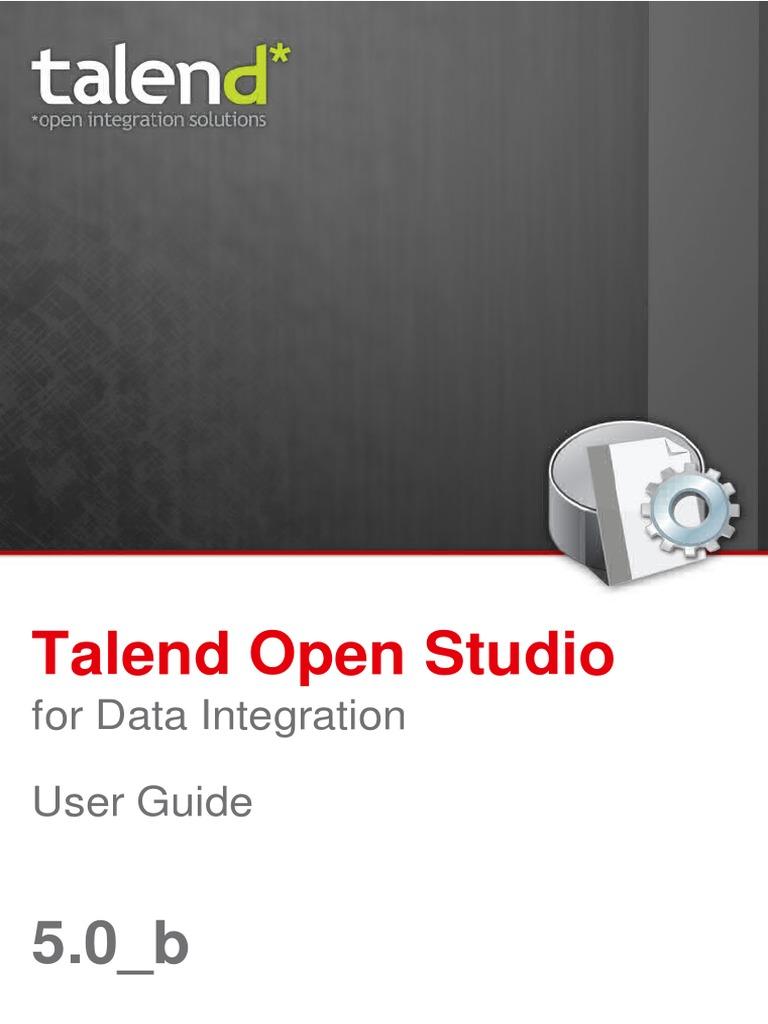 TalendOpenStudio_DI_UG_50b_EN pdf | Proxy Server | Xml