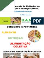 AULA 1_a - Aspectos Gerais de Unidades de Alimentação e Nutrição