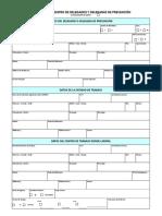 Formulario 11. Solicitud de Registro de Delegados de Prevencion