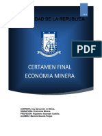 Certamen  economía minera