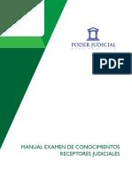 4. Manual Examen Conocimientos Receptores Judiciales, Concursos Publicados a Partir Del 14 de Octubre de 2016