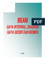 5.BEAM Gaya Internal, Dia