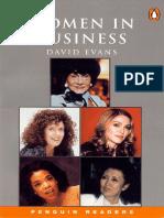 David Evans Women in Business Penguin Readers L4