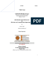 Capstone Report Formats