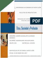 Búsqueda de Fuentes en Torno a La Ética en La Act. (Maximiliano Aguilar Garza)