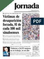 Víctimas de desaparición forzada, 81 de cada 100 mil sinaloenses