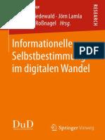 inforationelle Selbstbestimmung im digitalen Wandel
