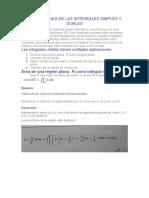 Aplicaciones de Las Integrales Simples y Dobles