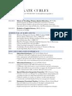 kate curley resume pdf