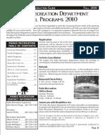 League City Parks & Recreation Brochure Fall 2010