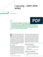 Wi-Fi security – WEP, WPA and WPA2