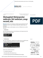 Metasploit Meterpreter Webcam_list Webcam_snap Record_mic • Eric Romang Blog