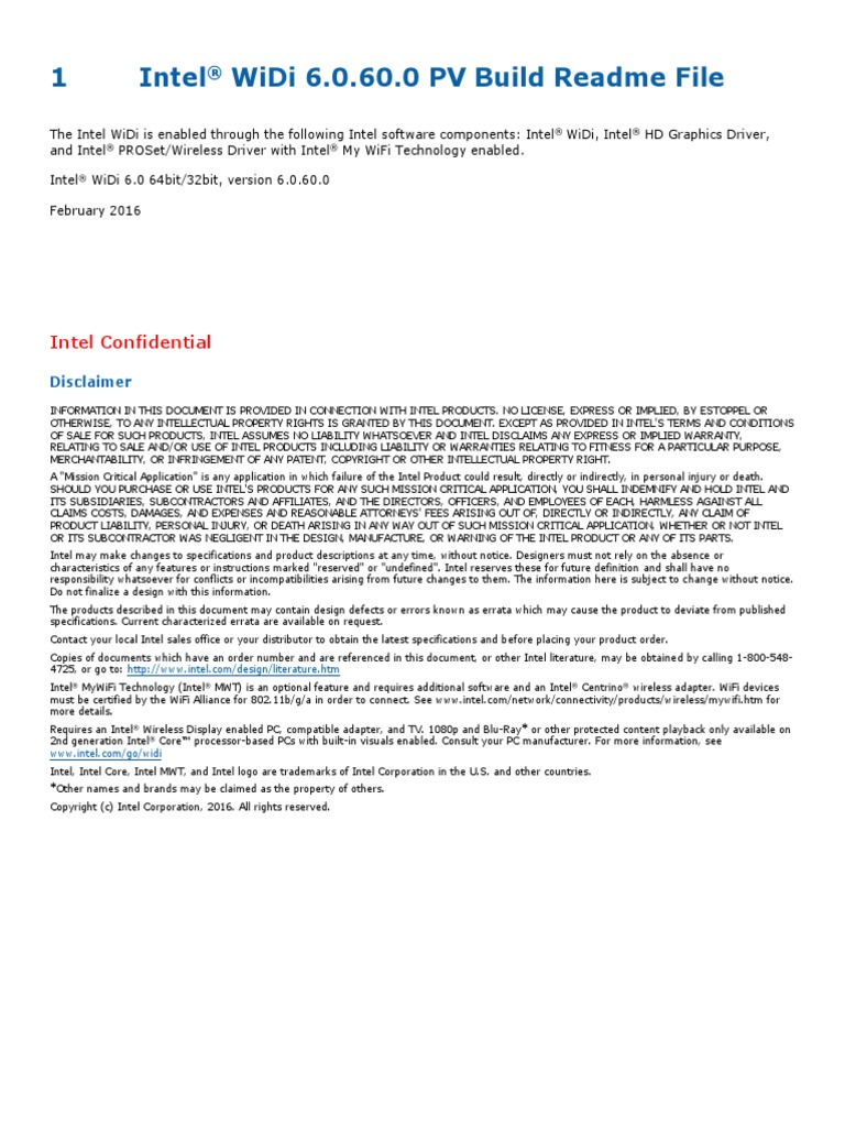intel widi driver windows 8.1 download