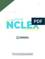 TEST 1.01 NCLEX® Prep Podcast Outline NRSNGcom