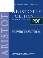 (Clarendon Aristotle Series) Aristotle_ Trevor J. Saunders (Transl.)-Politics_ Books I and II-Oxford University Press (1995)